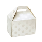 Medium Gable Boxes - Polka Dot Pearl pattern