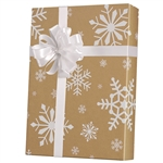 Recycled Snowday Kraft Gift wrap paper