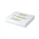Hot-Stamped White Gloss Jewelry Boxes