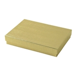 Large Gold Linen Foil Jewelry Boxes