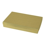 Extra Large Gold Linen Foil Jewelry Boxes