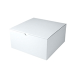 "White Gift Boxes Tuck-It One Piece Pop Up 10"" x 10"" x 6"""