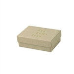 1 Color Hot-Stamped Oatmeal Pinstripe Jewelry Boxes