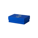 Small Cobalt Blue Jewelry Boxes Custom Printed