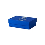 1 Color Hot-Stamped Cobalt Blue Jewelry Boxes