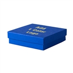 Medium Cobalt Blue Jewelry Boxes Hot-Stamped