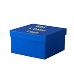 Hot-Stamp Printed Cobalt Blue  Jewelry Boxes