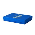 Hot-Stamped Large Cobalt Blue Jewelry Boxes