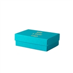 Small Tropical Blue Jewelry Boxes Custom Printed