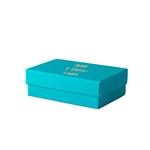 1 Color Hot-Stamped Tropical Blue Jewelry Boxes