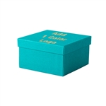 Hot-Stamp Printed Tropical Blue  Jewelry Boxes