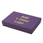 Hot-Stamped Large Deep Purple Jewelry Boxes