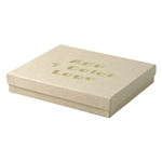 Hot-Stamped Large Oatmeal Groove Jewelry Boxes