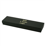 Hot-Stamped Necklace Black Kraft Pinstripe Jewelry Boxes
