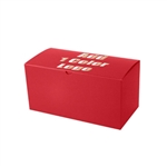"Hot-Stamped 12"" x 6"" x 6"" Red Gift Boxes"