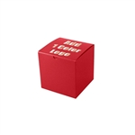 "Hot-Stamped 6"" x 6"" x 6"" Red Gift Boxes"