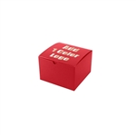 "Hot-Stamped 6"" x 6"" x 4"" Red Gift Boxes"