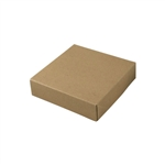 "6-1/2"" x 6-1/2"" x 1-5/8"" Kraft Pinstripe Tuck-It Gift Boxes"