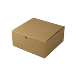 "8"" x 8"" x 3-1/2"" Kraft Pinstripe Tuck-It Gift Boxes"