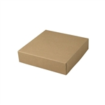 "8-1/2"" x 8-1/2"" x 2"" Kraft Pinstripe Tuck-It Gift Boxes"