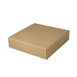 "10-1/2"" x 10-1/2"" x 2-1/2"" Kraft Pinstripe Tuck-It Gift Boxes"