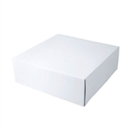 "White Gift Boxes Tuck-It Two Piece Pop Up 11"" x 11"" x 3-3/4"""