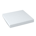 "White Gloss Tuck-It, One Piece Gift Boxes - 12"" x 12"" x 1"" 100/Pack"