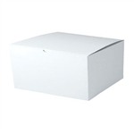 "White Gift Boxes Tuck-It One Piece Pop Up 12"" x 12"" x 6"""