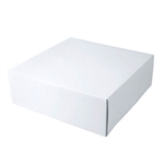 "White Gift Boxes Tuck-It Two Piece Pop Up 14"" x 14"" x 3"""