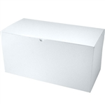 "White Gift Boxes Tuck-It Two Piece Pop Up 17"" x 8-1/2"" x 8-1/2"""