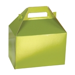 Medium Gable Boxes - Shimmer Frost Leaf pattern