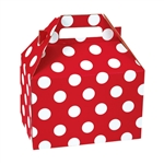 Medium Gable Boxes - Cheery Dots pattern