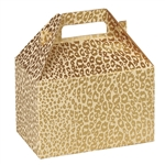 Medium Gable Boxes - Golden Cheetah pattern