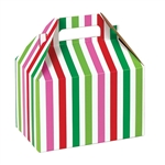 Medium Gable Boxes - Santa Stripe pattern