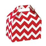 Medium Gable Boxes - Red Chevron pattern