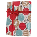 Recycled Twinkling Ornaments Kraft Gift wrap paper