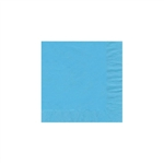 "Bermuda Blue Beverage Napkin - 5"" x 5"" Unprinted 50 or 100/pack"