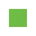 "Citrus Green Beverage Napkin - 5"" x 5"" Unprinted 50 or 100/pack"