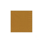 "Gold Beverage Napkin - 5"" x 5"" Unprinted 50 or 100/pack"