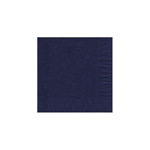 "Navy Blue Beverage Napkin - 5"" x 5"" Unprinted 50 or 100/pack"