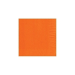 "Orange Beverage Napkin - 5"" x 5"" Unprinted 50 or 100/pack"