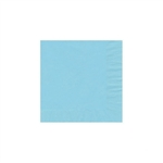 "Pastel Blue Beverage Napkin - 5"" x 5"" Unprinted 50 or 100/pack"
