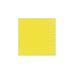 "Primrose Yellow Beverage Napkin - 5"" x 5"" Unprinted 50 or 100/pack"