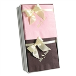 Personalized Monogram Beverage Napkin Hostess Gift Sets