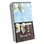 Personalized Beverage Napkin Hostess Gift Sets