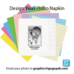 Photo printed Beverage napkins
