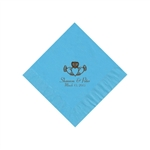 Wedding Beverage Napkins - Bermuda Blue