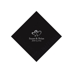 Wedding Beverage Napkins - Black