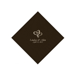 Wedding Beverage Napkins - Chocolate