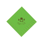 Wedding Beverage Napkins - Citrus Green
